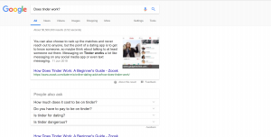 Google Home search for does tinder work